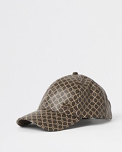 Brown RI monogram cap