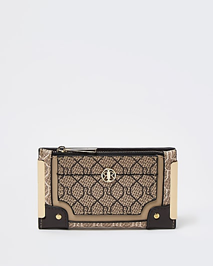Brown RI monogram purse
