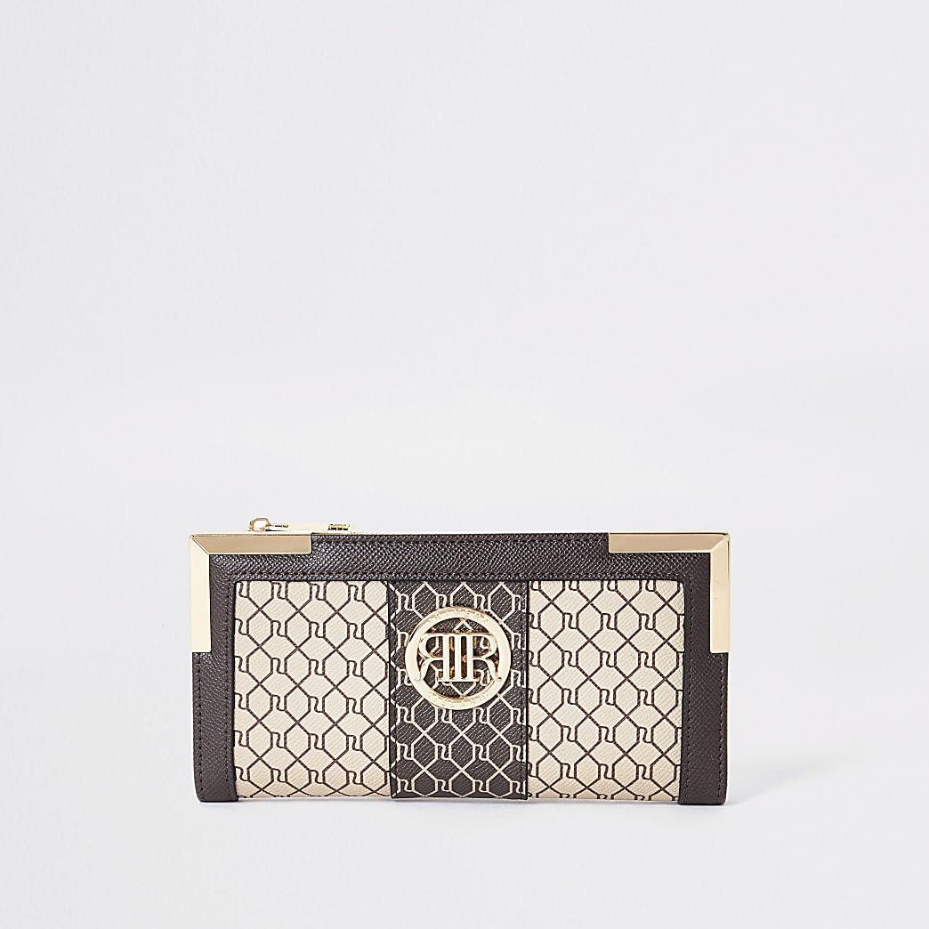 Brown RI monogram purse