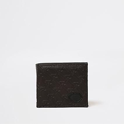 Brown RI monogram wallet