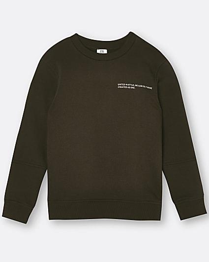 Brown RI ONE back print sweatshirt
