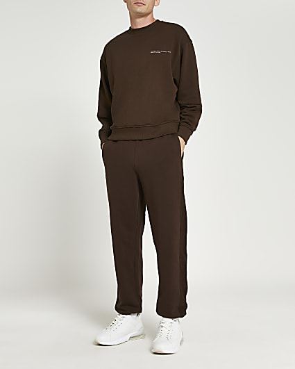 Brown RI ONE oversized fit joggers