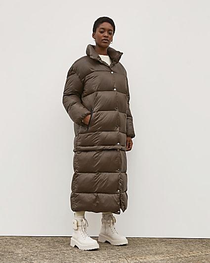Brown RI Studio 2 in 1 Puffer Coat