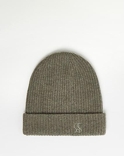 Brown RI Studio Cashmere Blend Beanie Hat