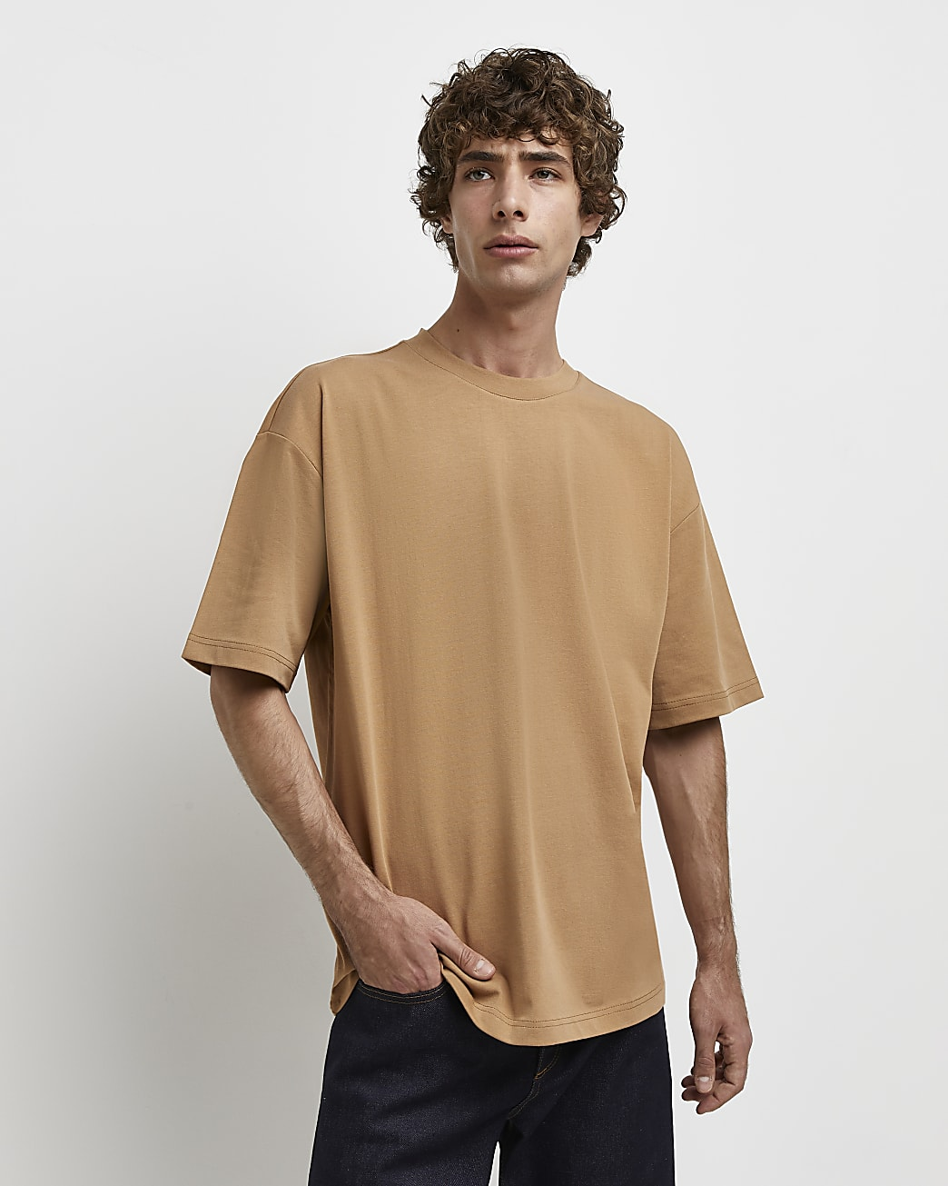 Brown RI Studio oversized fit t-shirt