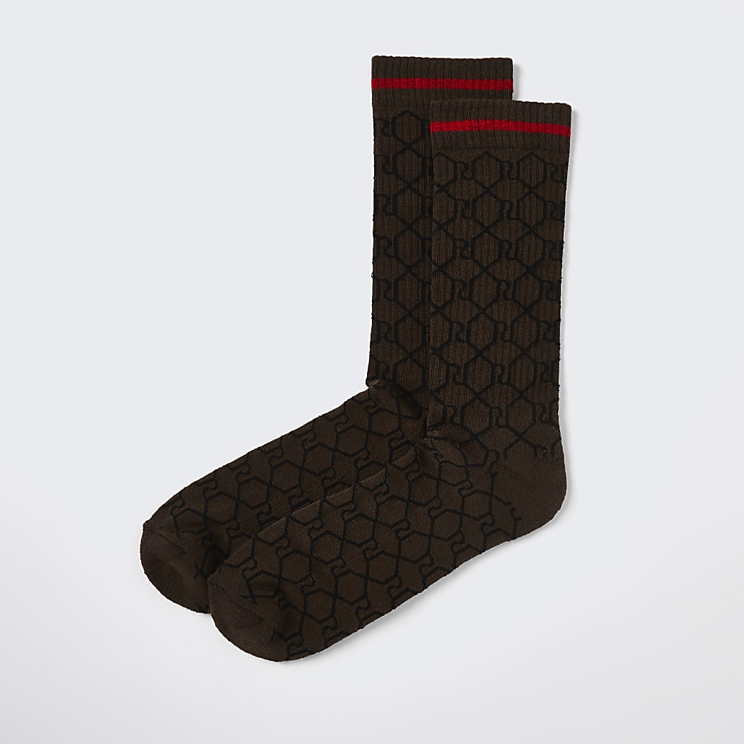 Brown RI tube socks