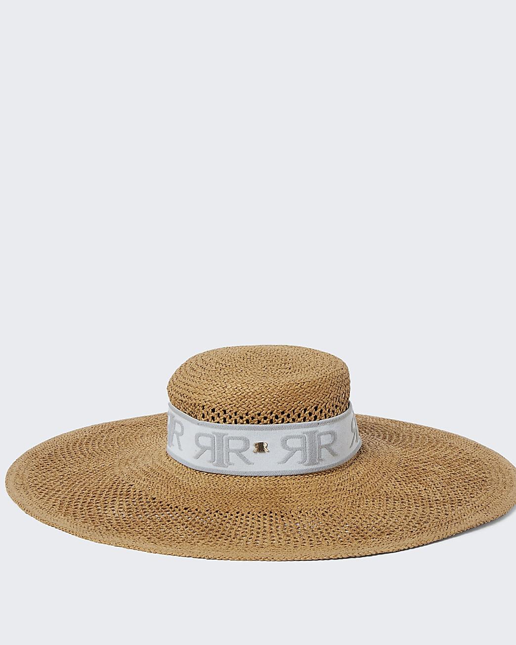 Brown RIR oversized sun hat