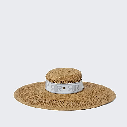 Brown RIR oversized sun hat