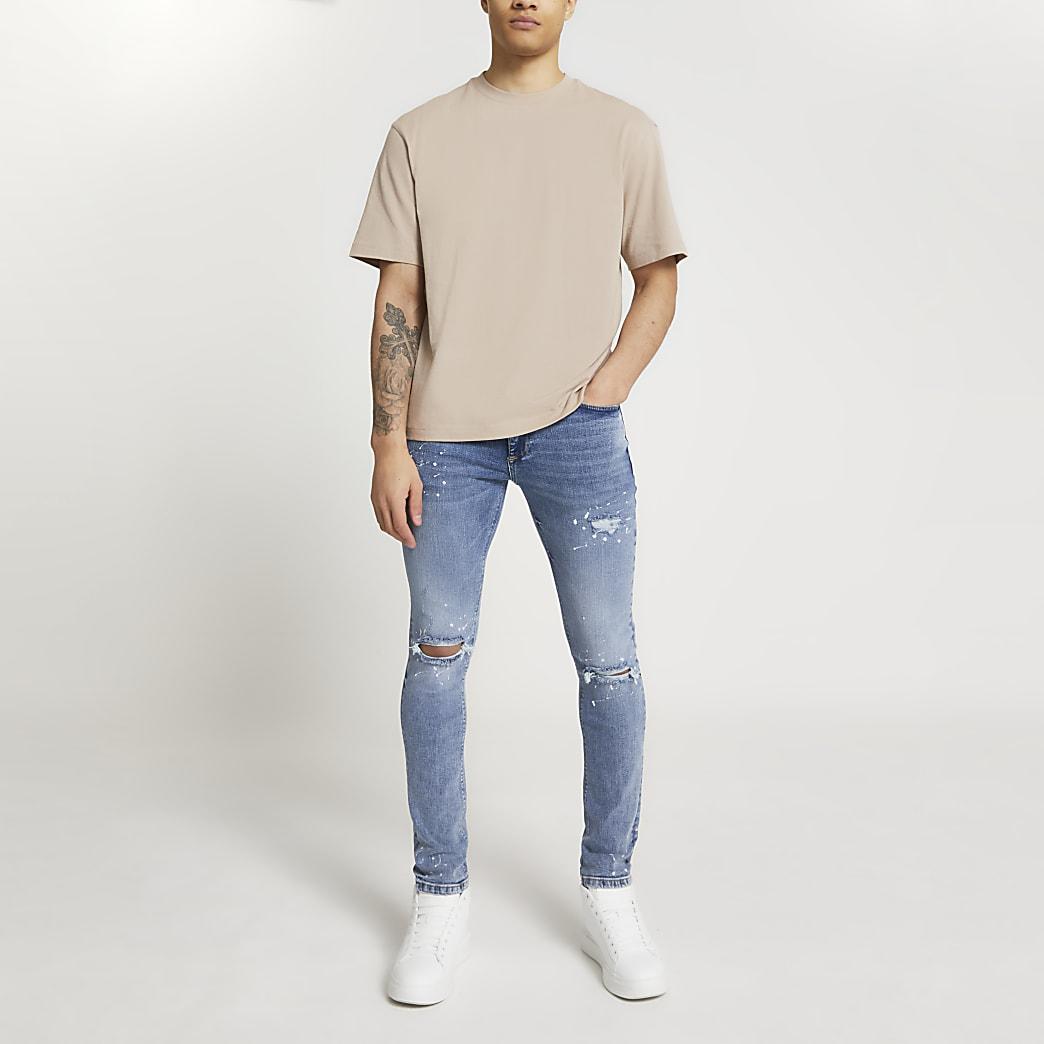 Brown short sleeve oversized t-shirt