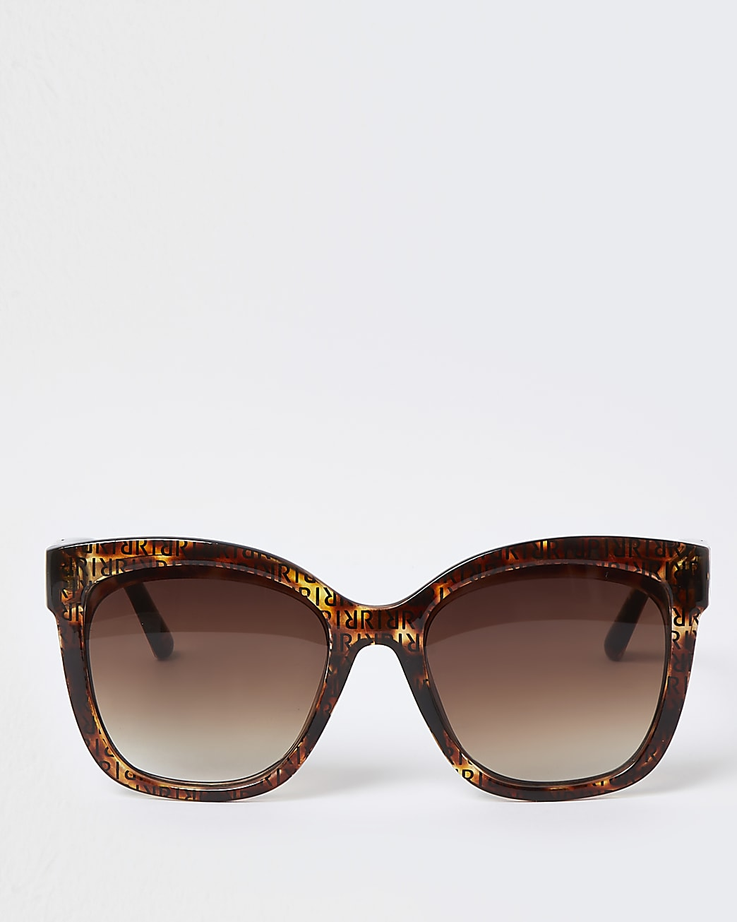 Brown tortoise lens RI print sunglasses