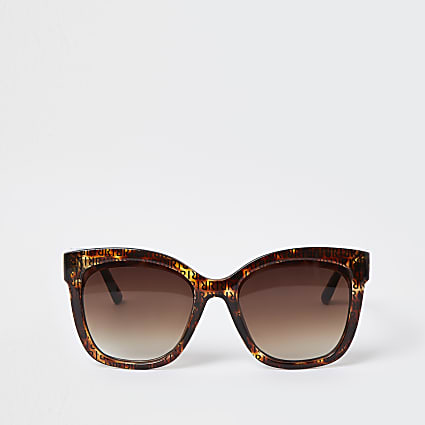 Brown tortoise lens RI print sunglasses