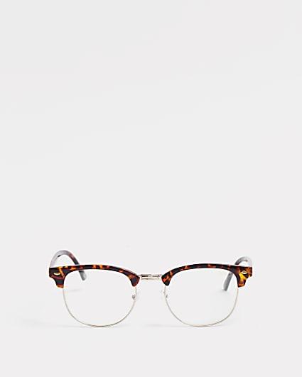 Brown tortoiseshell frame blue light glasses