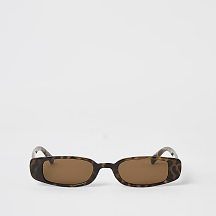 Brown tortoiseshell slim sunglasses