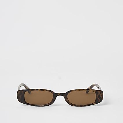 Brown tortoiseshell slim sunglasses