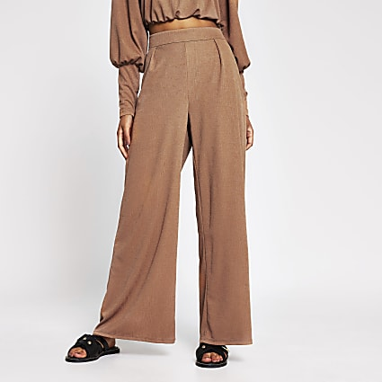 Brown wide leg trouser