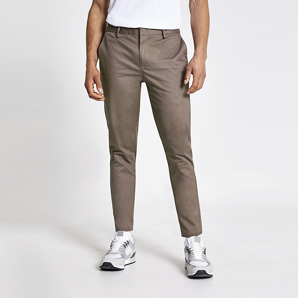 Bruise purple skinny chino trousers