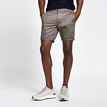 Bruised purple skinny chino shorts