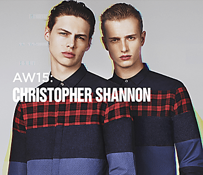 AW15: CHRISTOPHER SHANNON