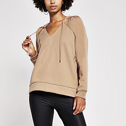 Camel long sleeve hoodie