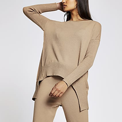 Camel long sleeve jumper