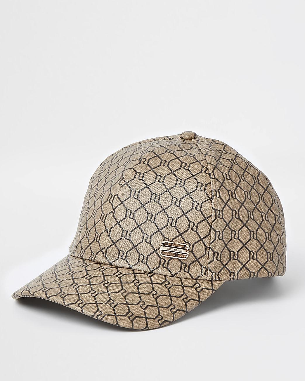 Camel RI monogram cap