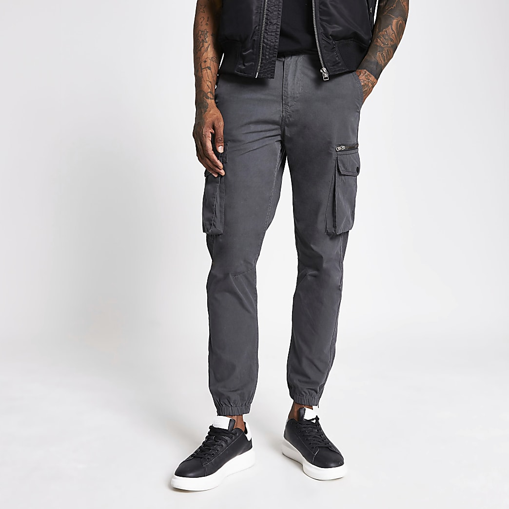 Charcoal cargo trousers
