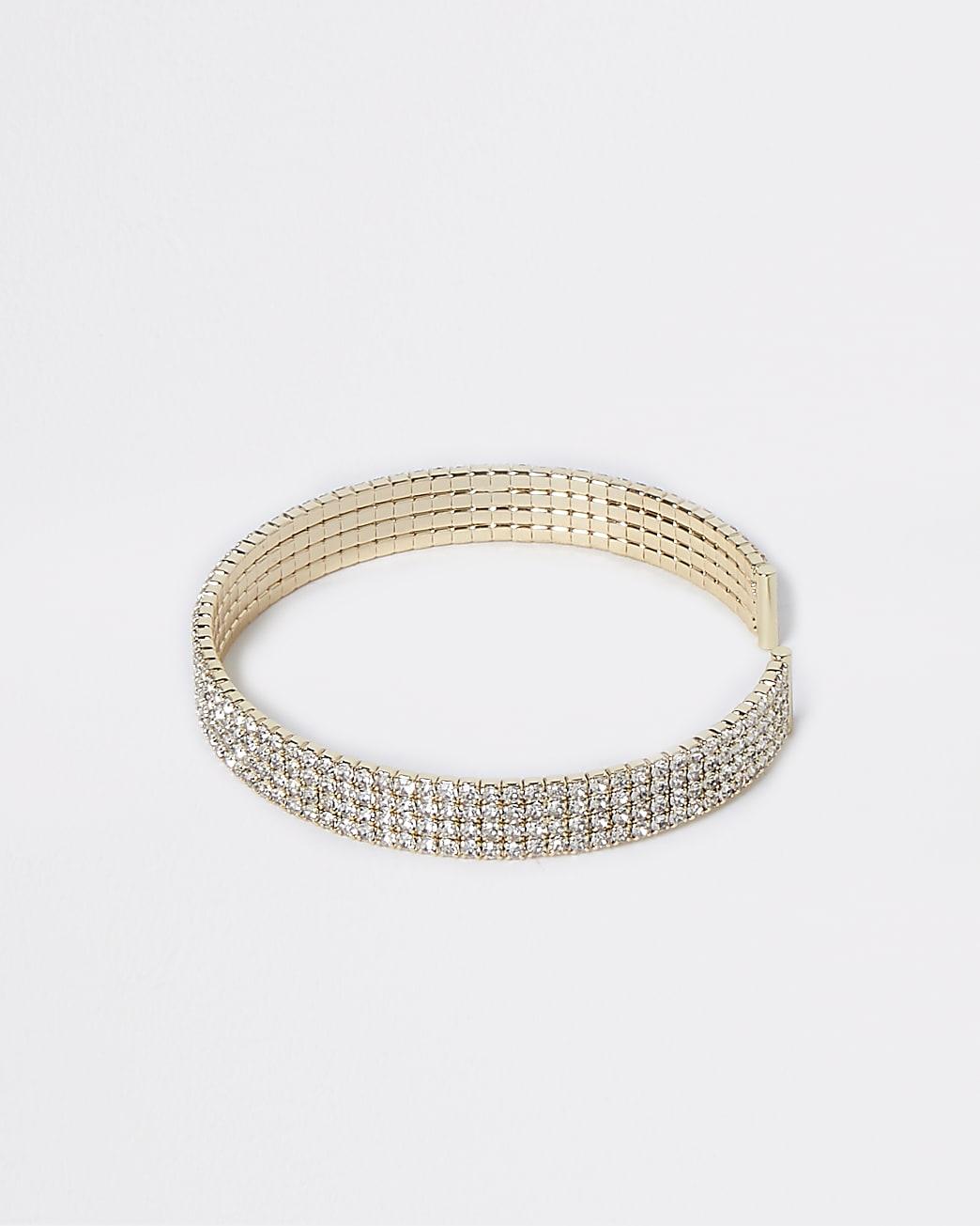 Chunky Pave Cuff Bracelet