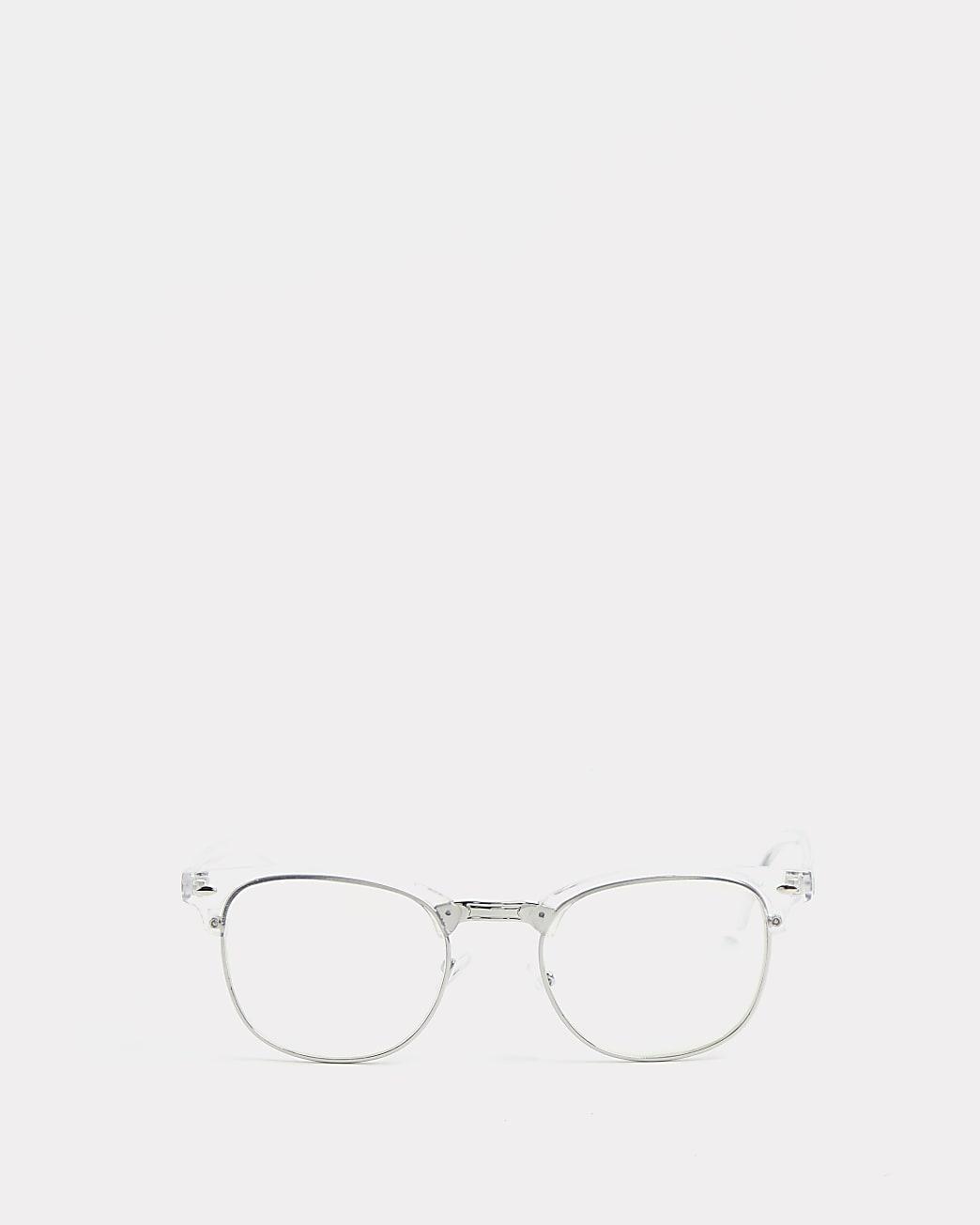 Clear frame blue light glasses
