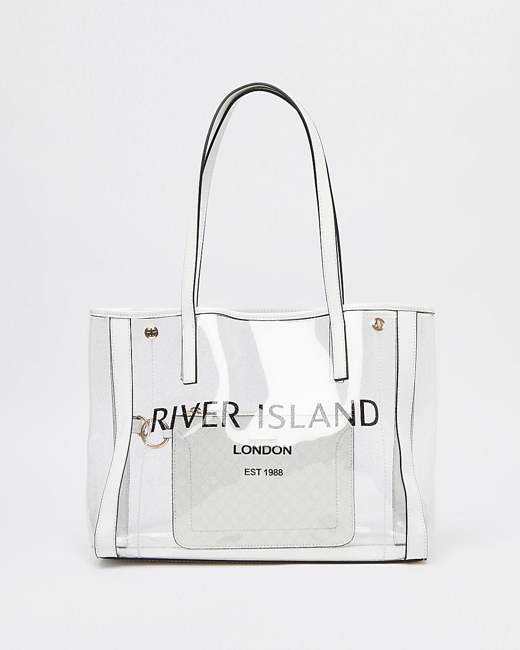 Clear perspex shopper bag