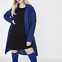 Cobalt blue textured coat