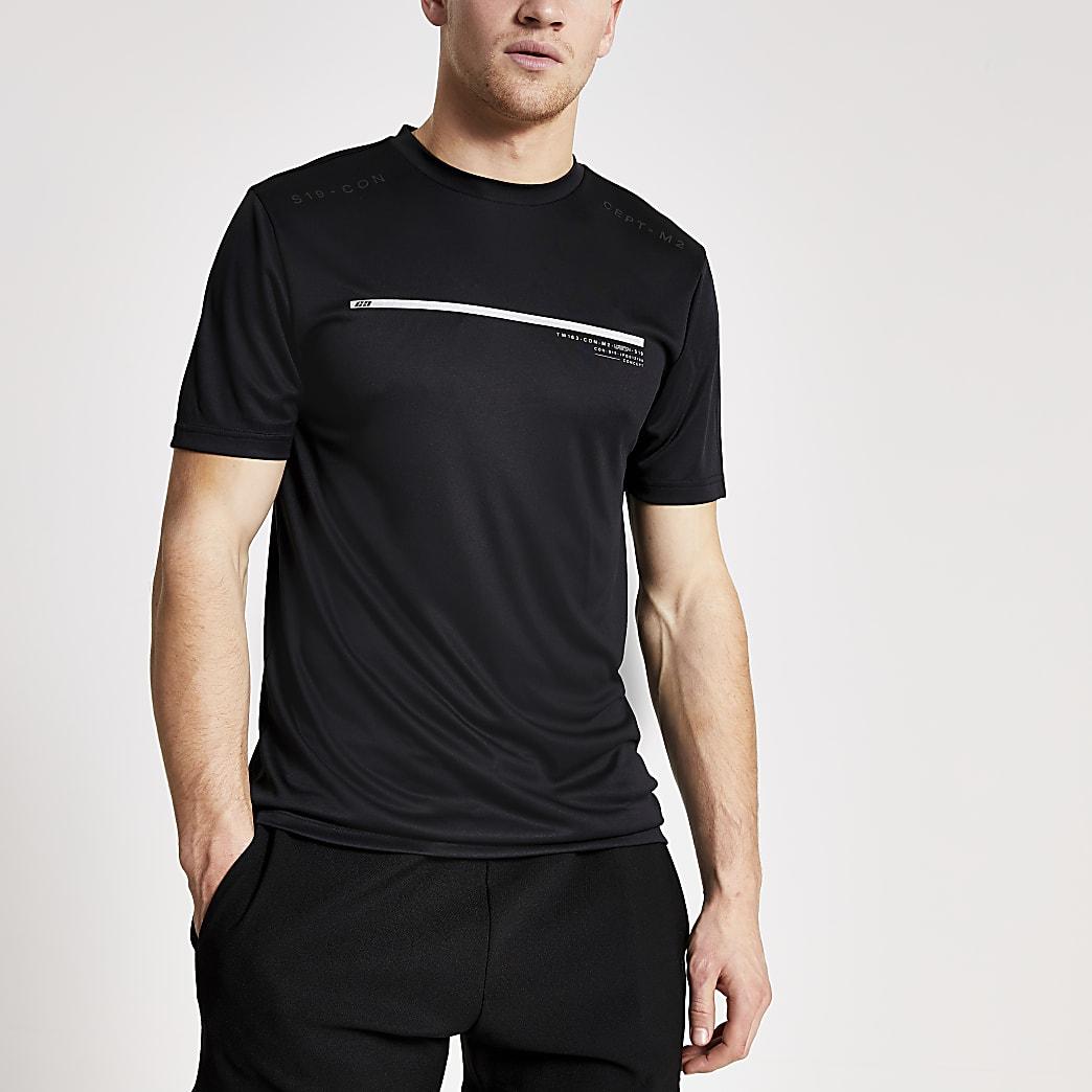 Concept black slim fit short sleeve T-shirt