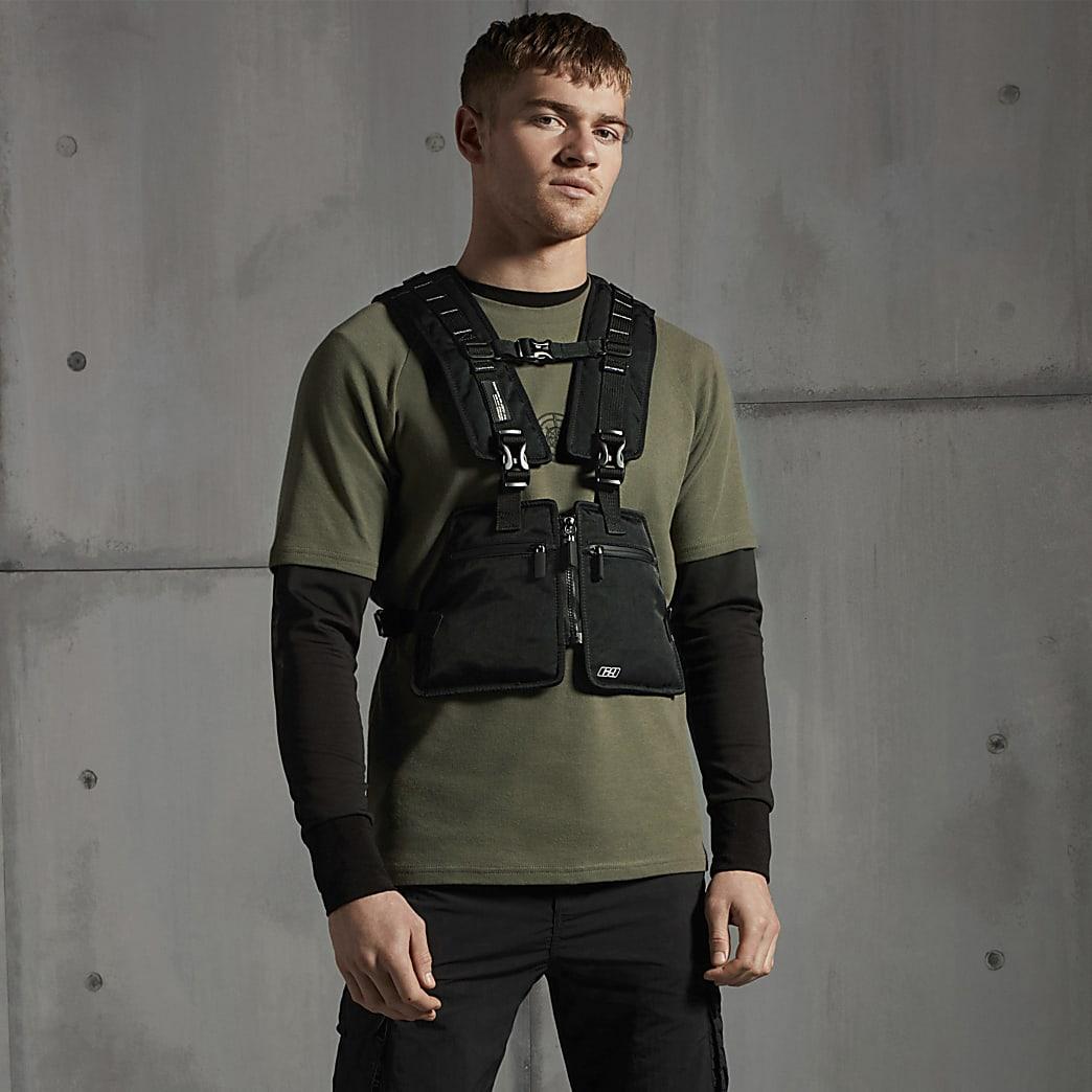Concept black vest bag