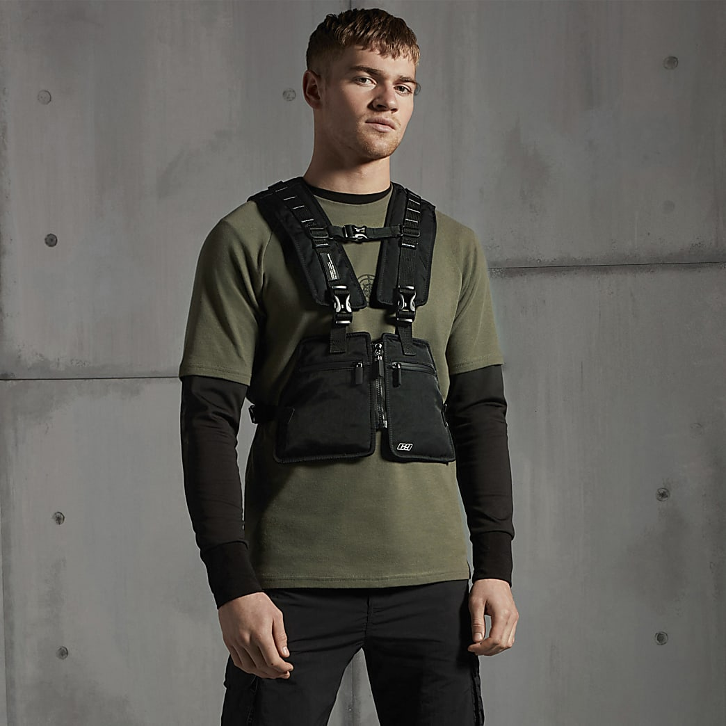 Concept – T-shirt slim kaki boussole