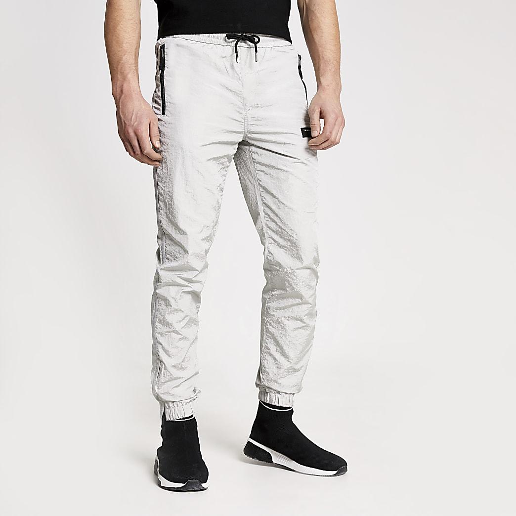 Concept - Zilverkleurige nylon Ryan joggingbroek