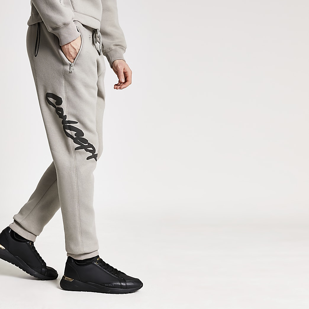 Concept stone regular fit graffiti joggers