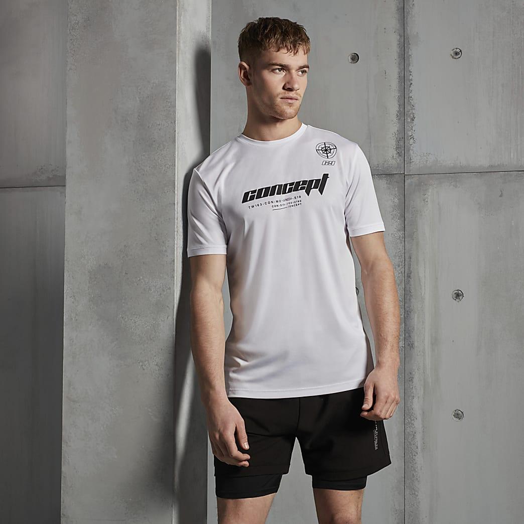Concept white slim fit Active T-shirt