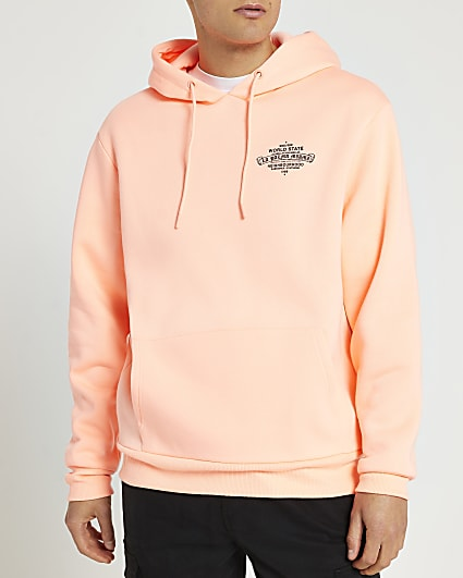 Coral graphic hoodie