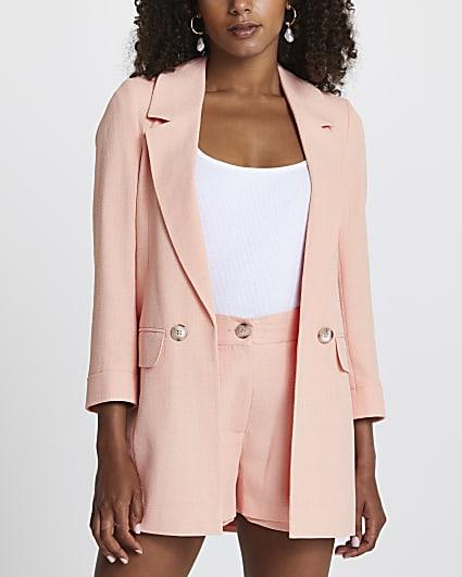 Coral long soft blazer