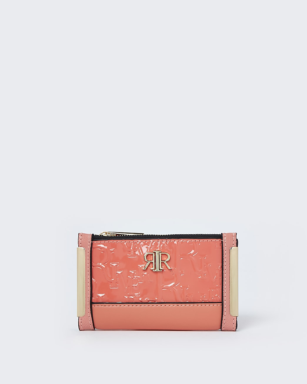 Coral RI embossed mini foldout purse