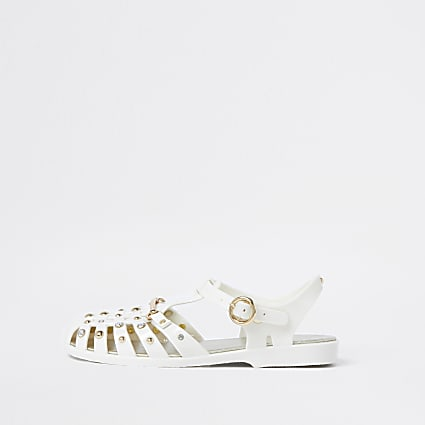 Cream  fisherman jelly sandals