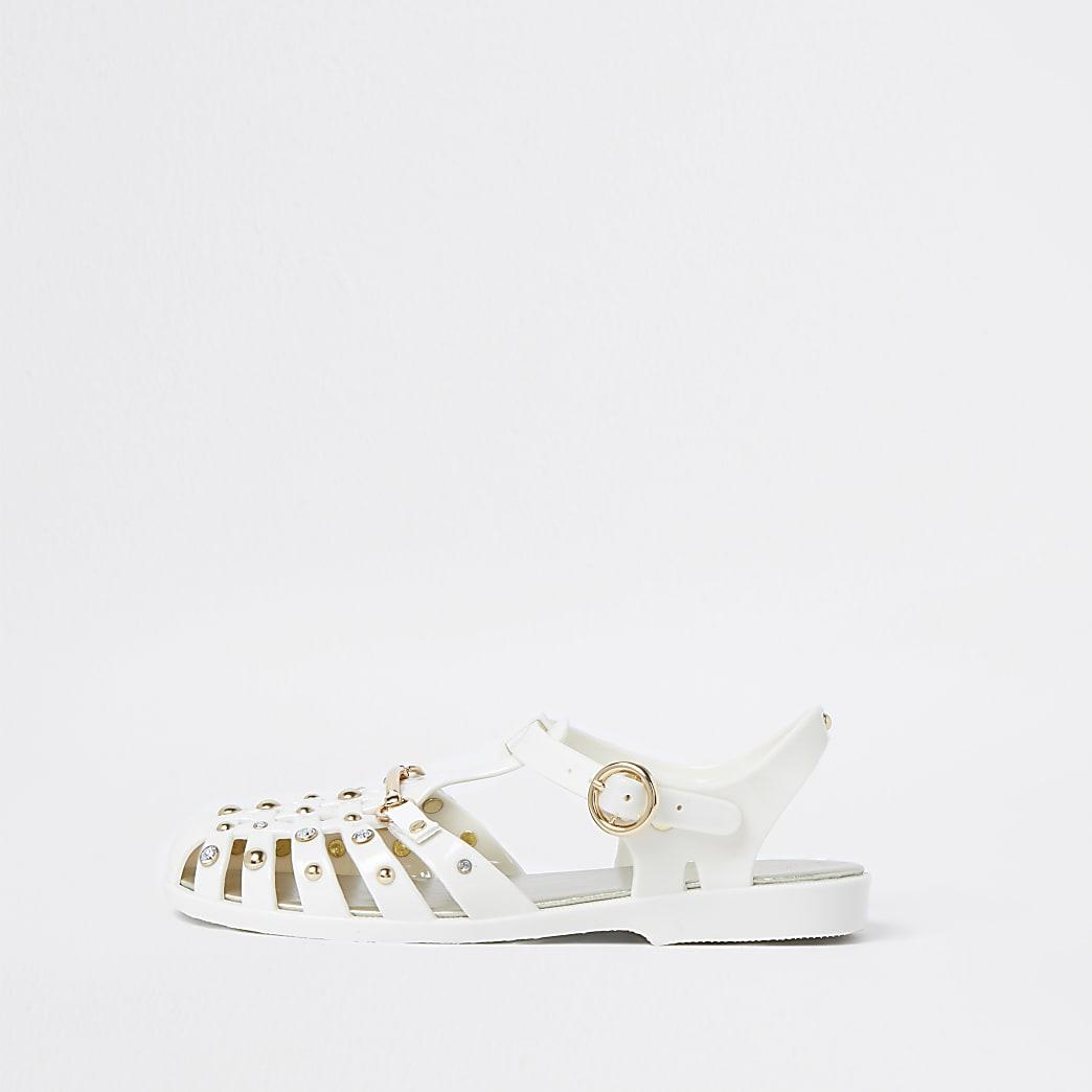 Cream  fisherman jelly sandals