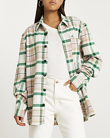 Cream check shirt