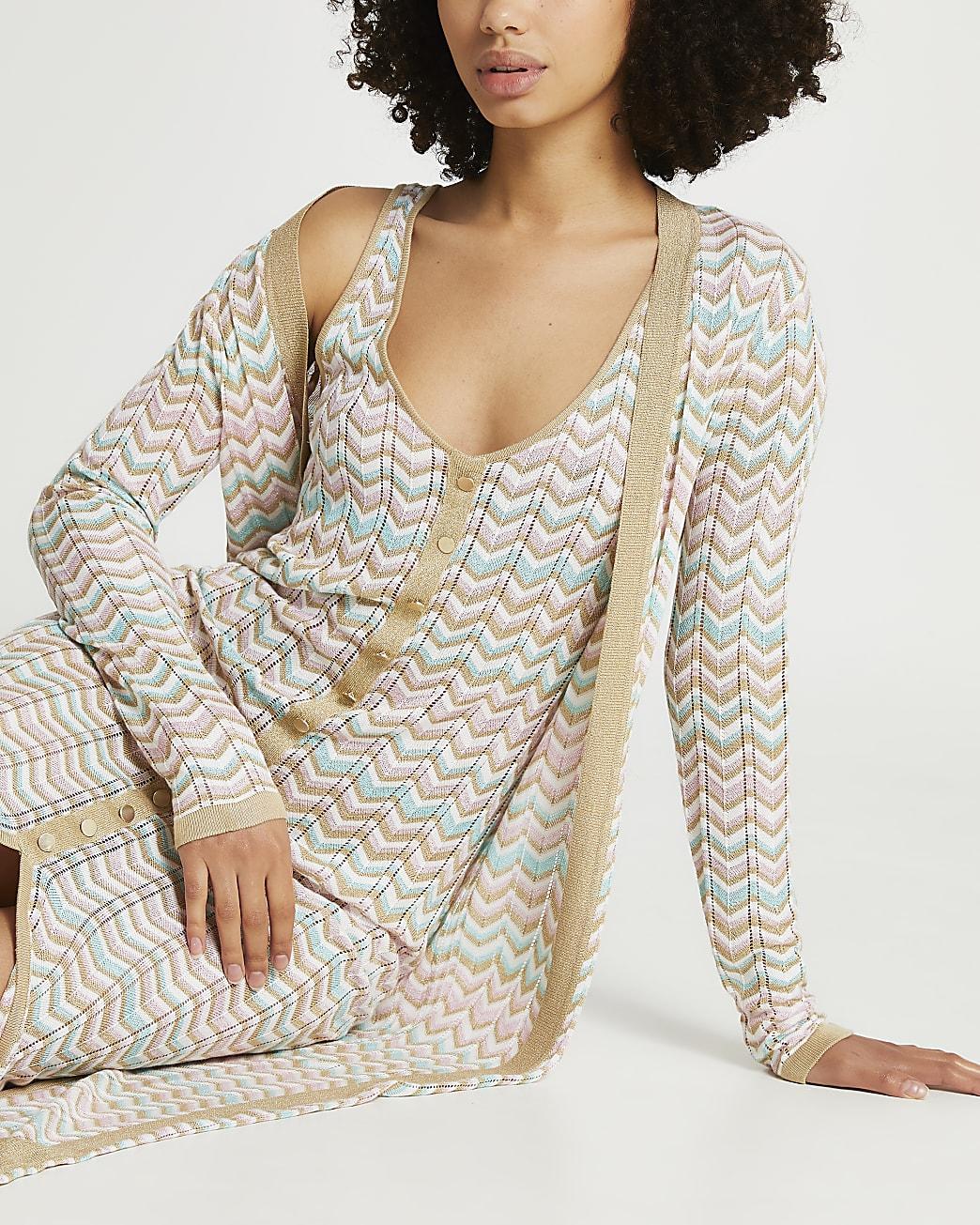 Cream chevron dress