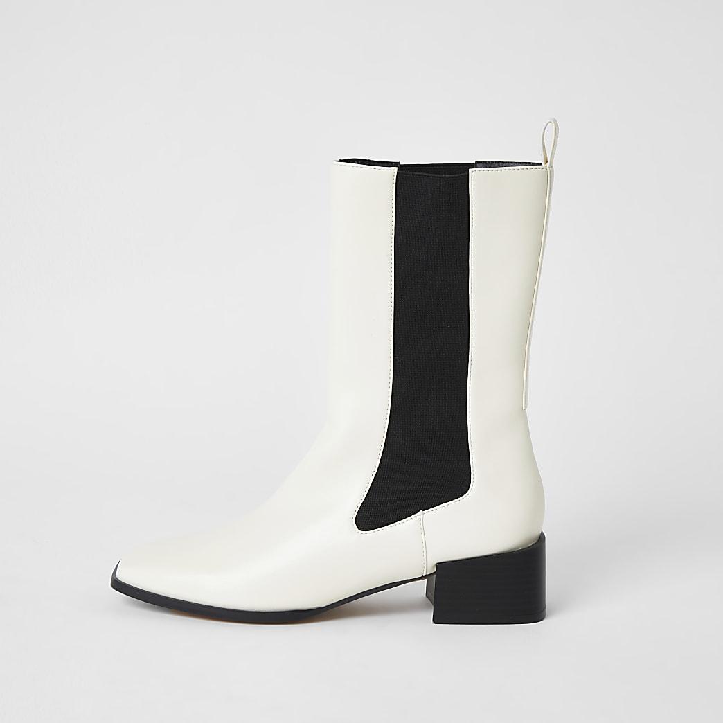 Cream gusset boots