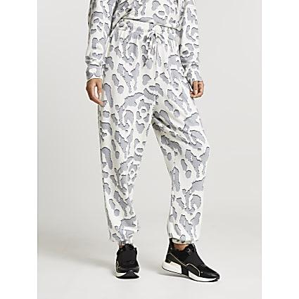 Cream leopard print pyjama bottoms