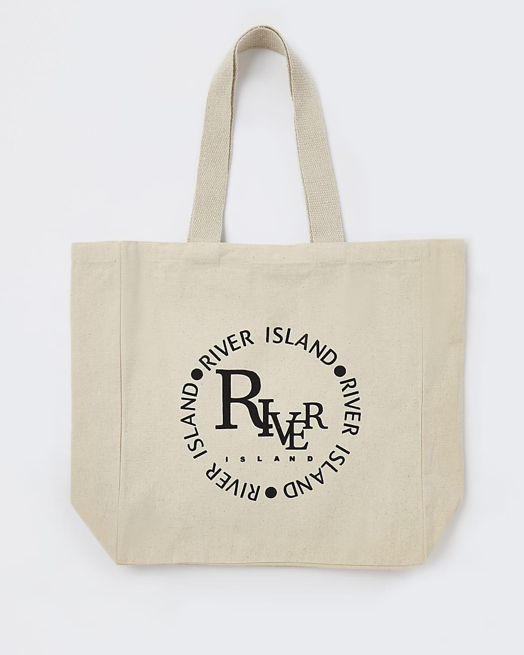 Cream RI branded shopper bag