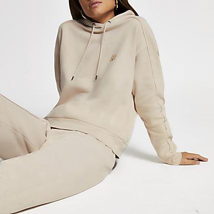 Cream RI long sleeve hoodie