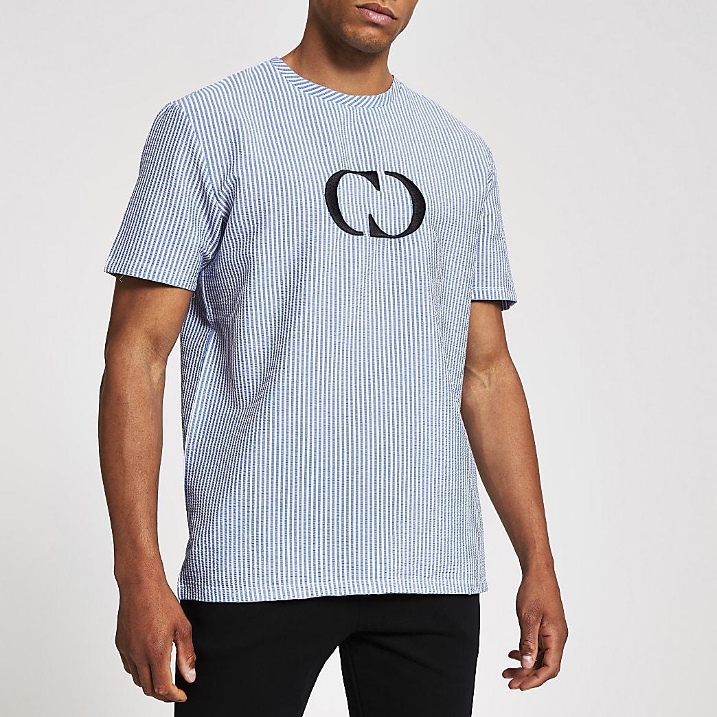 Criminal Damage - Blauw T-shirt met logo