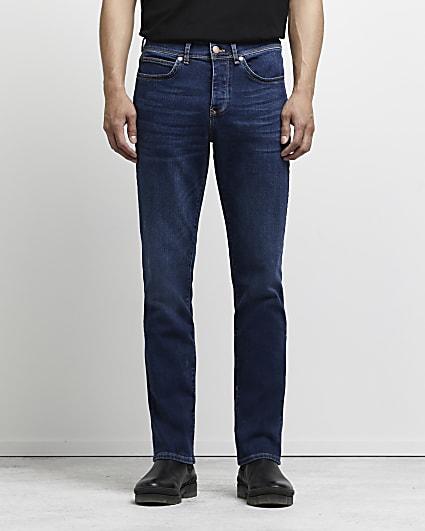 Dark blue bootcut fit jeans