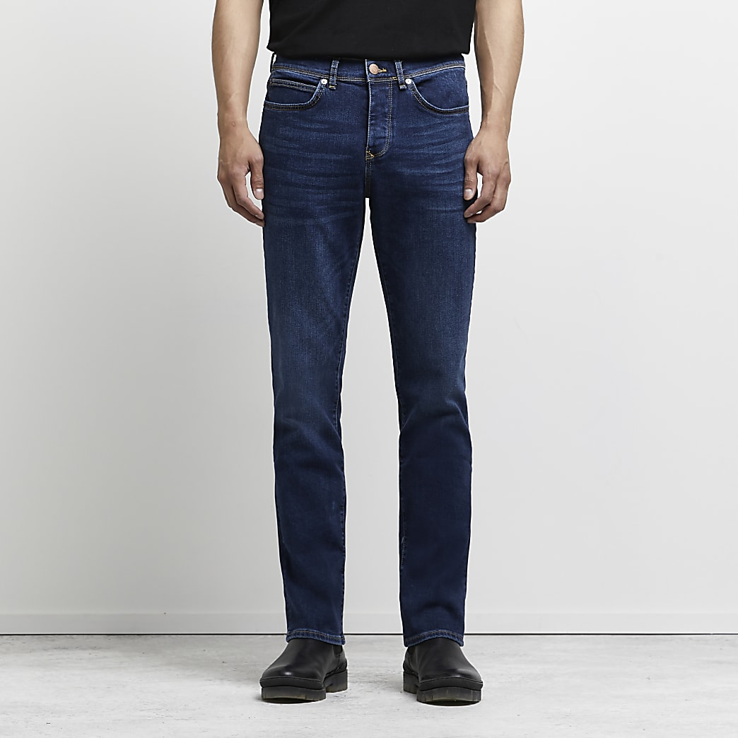 Dark blue Clint bootcut stretch jeans